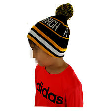 PITTSBURGH KIDS Pom Black/Yellow Striped Beanie Cuff Skull Cap
