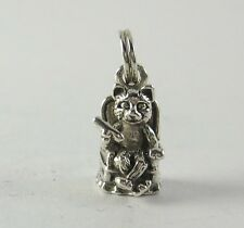 Cat Chair Charm Pendant .925 Sterling Silver USA Made Pet Jewelry