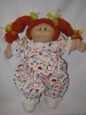 1982 Cabbage Patch Girl Doll W/Red Yarn Braided Pig Tails