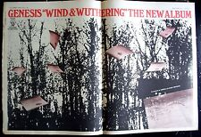 GENESIS 1977 Poster Ad WIND & WUTHERING