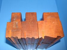 set of 3 Greenfield Tool stepped complex wood molding moulding planes