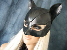 Catwoman Hood Mask-Female látex ear máscara Batman gato Halloween capó Kitty