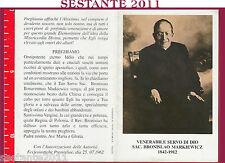 520 SANTINO HOLY CARD SERVO DI DIO SAC BRANISLAO MARKIEWICZ MONTE S. ANGELO FG