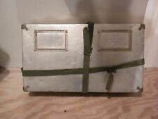 Vintage Antique Metal Shipping Box Old Aluminum Mail Case Post Office