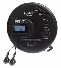 New Supersonic Audio Personal Slim MP3/CD/FM Radio Player Black SC-253 Anti-Skip
