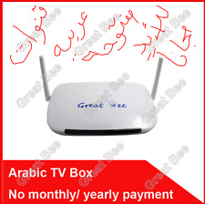 "2017 ""GREAT APE"" Arabo TV BOX IPTV SUPPORTO 400 canali Arabo libero per la vita!"