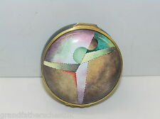 HALCYON DAYS ENAMELS LARGE PILL BOX MANPOWER EXCELLENCE AWARD 1993 HANDPAINTED