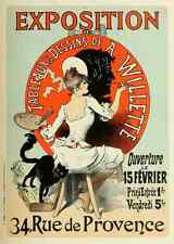 A4 photo CHERET, Jules les affiches illustrees 1896, exposition de A WILLETTE pr