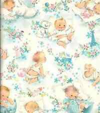 Vintage Baby Blue 8x8 Fabric Block - BUY 2 FABRIC LISTINGS, GET 1 FREE!