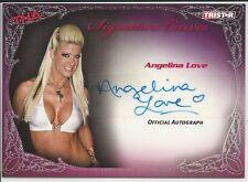 Angelina Love 2009 TriStar TNA Knockouts Signature Curves Autograph Card # KA1