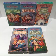 Disney Chip N Dale Rescue Rangers Lot Of 5 Different VHS Cassette Tapes