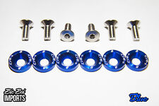 BicBoi Imports 6 Pack M8 Fender Washers Blue STAINLESS STEEL - FREE POSTAGE JDM