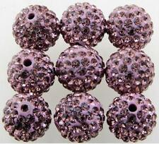 Free Ship NEW 20pcs Disco Ball Pave CZ Crystal Spacer Beads For Bracelet 8-12mm