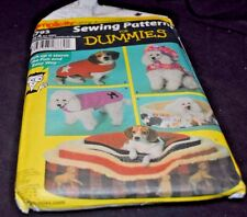 SImplicity Sewing Patterns for Dummies 4793 SIze A Dog bed covers and coats S-L
