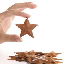 Lot of 100 Rusty Barn Stars 2.25 in Dimensional 2 1/4 Country Rusted Tin Crafts