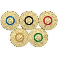 2016 $2 Australian Olympic Team Colour 5 coin set SOLD OUT AT MINT
