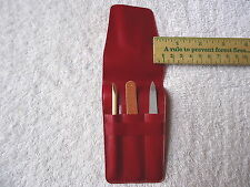 "Vintage "" NOS "" Triple Cut 3 Piece Nail Set In Plastic Pouch "" AWESOME COLLECTIB"