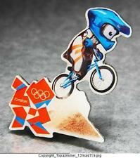 OLYMPIC PINS BADGE 2012 LONDON ENGLAND UK MASCOT SPORT OF BMX BIKING CYCLING