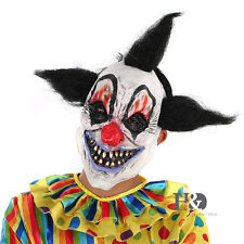 Scary Funny Black Hair Clown Mask Halloween Custom Ghost Full Face Mask Adult