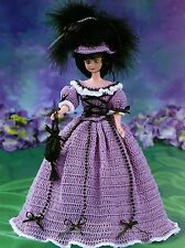 1800's Day Outfit/Fashion Doll Dress/Crochet Pattern INSTRUCTIONS ONLY