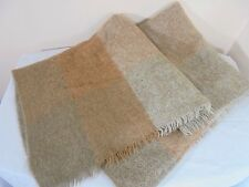 Donegal Design Ireland Mohair Sofa Throw Blanket Brown Gray Vintage