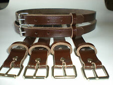 Coach built vintage pram real leather suspension straps in brown