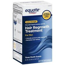 Equate Men's Hair Regrowth Topical Solution 5% Minoxidil. 3 Months Supply. 04/18