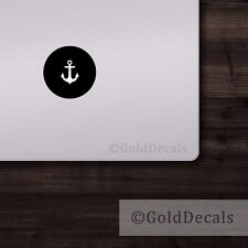 Anchor - Mac Apple Logo Cover Laptop Vinyl Decal Sticker Macbook Nautical