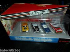 HTF 1999 HOT WHEELS TARGET EXCLUSIVE HOT NIGHTS DRIVE-IN DIORAMA 4 CAR SET