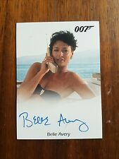 James Bond Archives Belle Avery Signed Trading Card