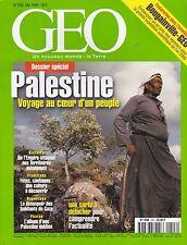 GEO MAGAZINE N° 243 MAI 1999 - PALESTINE - VOYAGE AU COEUR D'UN PEUPLE MAG REVUE