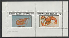 GB Locals - Bernera 127 - 1982 SHELL FISH perf sheetlet of 2 unmounted mint