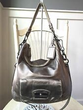 COACH KRISTIN Bronze Metallic Convertible Hobo Crossbody Shoulder Bag 14783