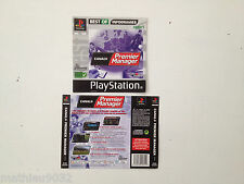 Jaquette Avant-Arriere/Front-Back Cover Canal + Premier Manager1 Playstation 1