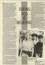 11/6/83PN14 ARTICLE WITH PICTURE: PUNK ROCK BAND THE RED ROCKERS