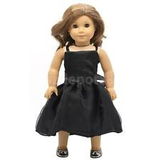 Black Party Gown Dress Clothing for 18'' American Girl Our Generation Doll