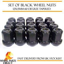 Alloy Wheel Nuts Black (20) 12x1.5 Bolts for Mazda 6 [Mk3] 12-16