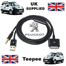 Peugeot Teepee  iPhone iPod 3.5mm USB & Aux Cable replacement