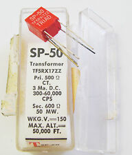 Triad SP-50, 500 Ohm CT Pri, 600 Ohm Sec, 3 MaDC, TF5S21ZZ Audio Transformer NOS