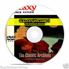 Galaxy, Vol 1, 72 Vintage Pulp Magazine, Golden Age Science Fiction DVD CD C55