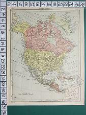 c1892 VICTORIAN MAP ~ NORTH AMERICA ~ DOMINION OF CANADA MEXICO UNITED STATES