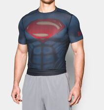 NEW MEN'S UNDER ARMOUR HEATGEAR SUPERMAN ALTER EGO COMPRESSION T-SHIRT ~ 2XL