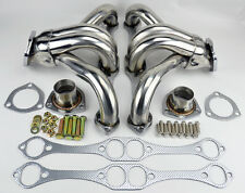 Chevy GMC 5.0L 5.7L 305 350 V8 Short Block Hugger Stainless Steel Headers Truck