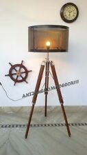 VINTAGE AUTHENTIC DESIGNER TRIPOD FLOOR LAMP WOODEN TRIPOD STAND WITHOUT SHADE