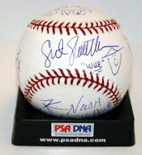 Shawn Michaels Bret Hart Nash Slaughter Baseball Signed by 9 WWE WWF PSA/DNA LOA