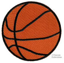 EMBROIDERED BASKETBALL PATCH - new IRON-ON APPLIQUE SPORTS HOOPS BALL