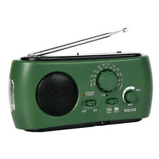 Multifunction FM/AM Radio Solar/Hand Crank Power/Rechargeable Micro USB 3LEDs