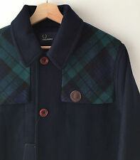 NEW FRED PERRY NAVY BLUE WOOL BLOUSON JACKET M mod pea casuals classic weller