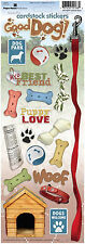 Paper House GOOD DOG Cardstock Stickers scrapbooking PUPPY LEASH BISCUIT COLLAR