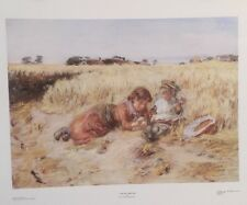 FINE ART LITHOGRAPH: Corn In The Ear By William Mctaggart 26 X 21